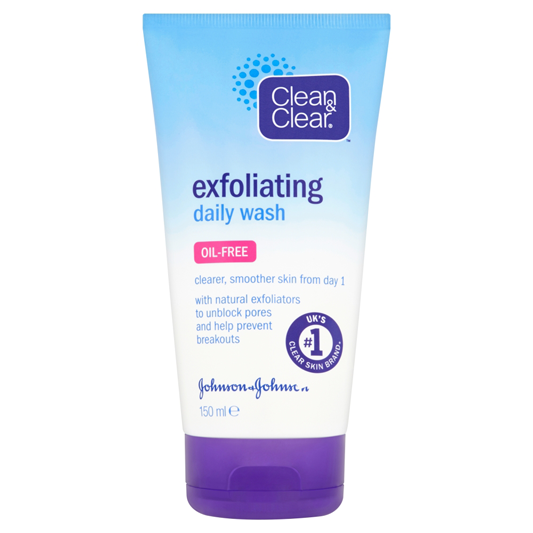 exfoliating face wash clean amp clear 174 exfoliating daily wash wash 30731